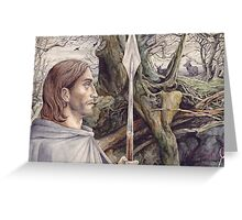 Beren the Solitary Outlaw Greeting Card