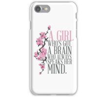 a girl who's got a brain iPhone Case/Skin