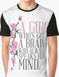 a girl who's got a brain Graphic T-Shirt