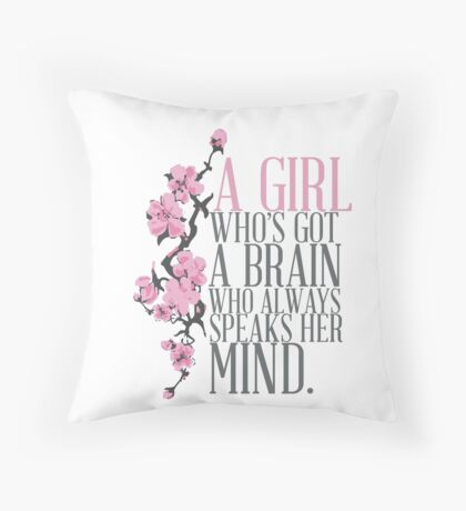 a girl who's got a brain Throw Pillow