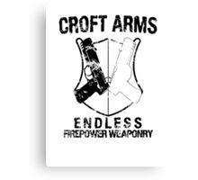 Croft Arms - Black Canvas Print