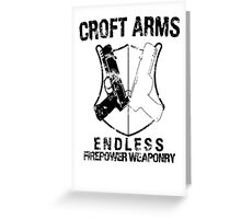 Croft Arms - Black Greeting Card