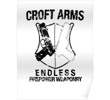 Croft Arms - Black Poster