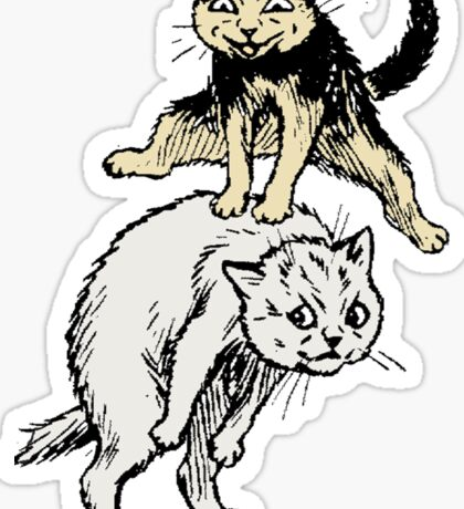 Cats Playing With Each Other Sticker