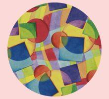 Candy Rainbow Geometric Kids Tee