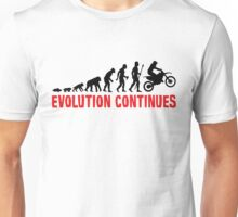 Dirt Bike Riding Evolution Of Man Continues Unisex T-Shirt
