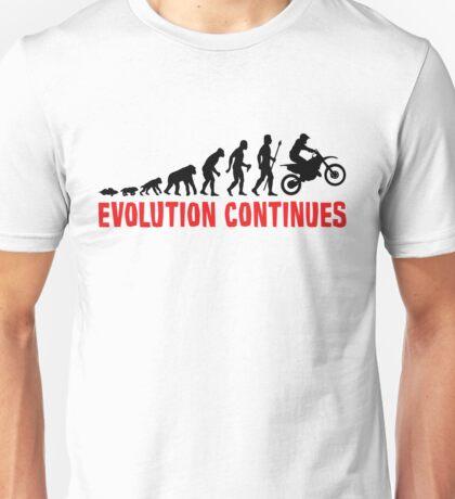 Dirt Bike Riding Evolution Of Man Continues Unisex T-Shirt