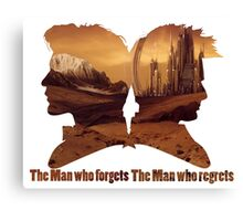 The man who regrets/forgets galifray Canvas Print