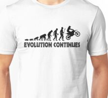 Funny Trail Bike Supercross Evolution Continues Silhouette Unisex T-Shirt