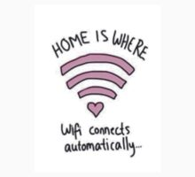 Home Is Where The Wifi Connects Automatically Sticker by b25boutique