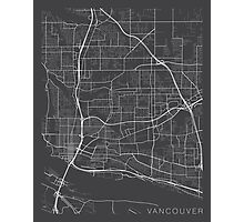 Vancouver Map, USA - Gray Photographic Print