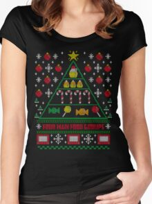 Elf Christmas Ugly Quote Women's Fitted Scoop T-Shirt