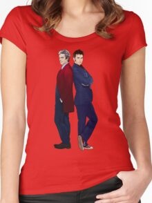 Doctor Who - Doctor 10 & Doctor 12 Women's Fitted Scoop T-Shirt