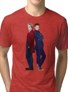 Doctor Who - Doctor 10 & Doctor 12 Tri-blend T-Shirt