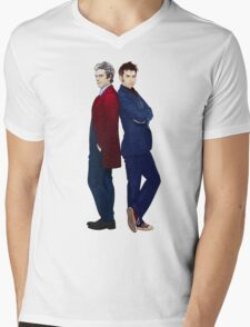 Doctor Who - Doctor 10 & Doctor 12 Mens V-Neck T-Shirt