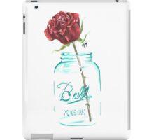 Mason Jar Rose iPad Case/Skin