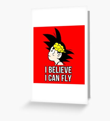 I Believe I Can Fly Greeting Card