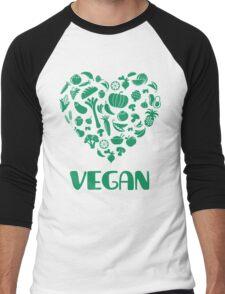 Vegan Lover Men's Baseball ¾ T-Shirt
