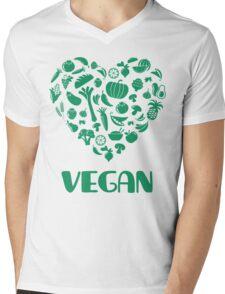 Vegan Lover Mens V-Neck T-Shirt