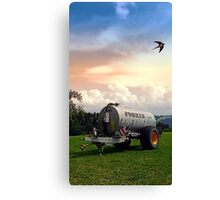 Farmer's pride and a swallow | conceptual photography Canvas Print