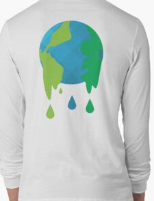 Wet Blue Planet Long Sleeve T-Shirt