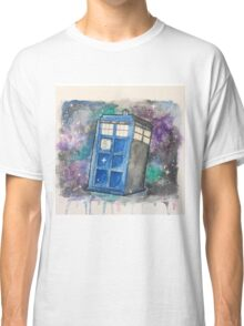 Watercolor Galaxy TARDIS Classic T-Shirt