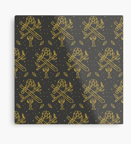 tarot suits Metal Print