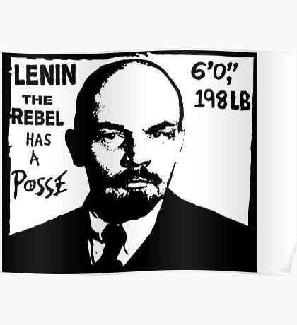 Vladimir Lenin Has A Posse - Obey Andre the Giant - Shepard Fairey communism parody Poster