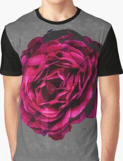 Subtle Plaid Rose Graphic Graphic T-Shirt