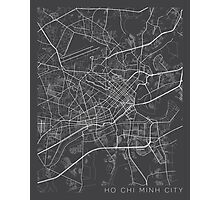 Ho Chi Minh City Map, Vietnam - Gray Photographic Print