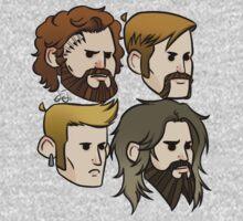 MASTODON cartoon quartet Kids Tee