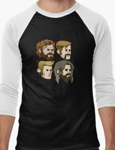 MASTODON cartoon quartet Men's Baseball ¾ T-Shirt