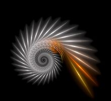 Fractal Art - Silver Spiral by Sven Fauth