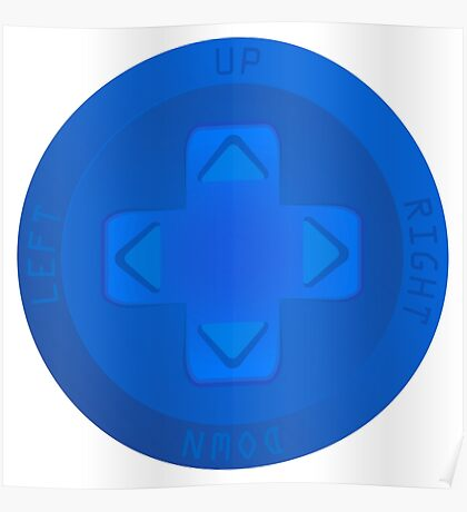 Gaming Directional Pad - Blue Poster