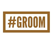 #Groom Photographic Print