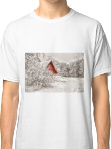 Red Shed In The Snow Classic T-Shirt