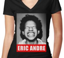 eric andre Women's Fitted V-Neck T-Shirt