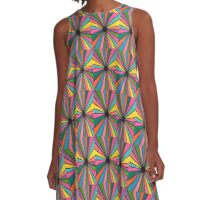 Rainbow Burst A-Line Dress