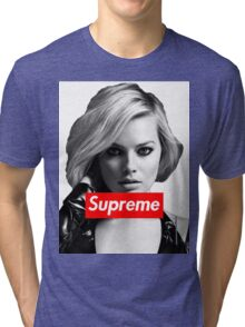 Margot Robbie Supreme B&W  Tri-blend T-Shirt