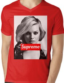 Margot Robbie Supreme B&W  Mens V-Neck T-Shirt