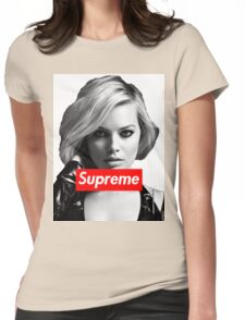 Margot Robbie Supreme B&W  Womens Fitted T-Shirt