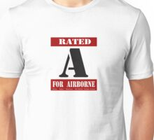 Rated A for Airborne Unisex T-Shirt