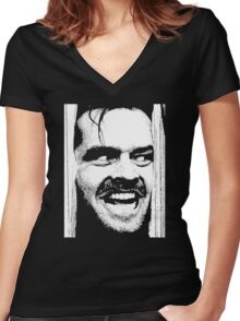 Where is Here's Johnny! in The Shinning Women's Fitted V-Neck T-Shirt