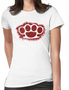 Brush Knuckle  Womens Fitted T-Shirt