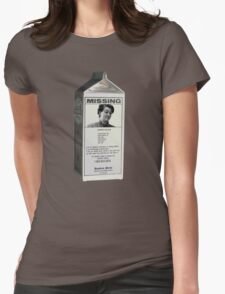 BARB MISSING MILK BOX Womens Fitted T-Shirt