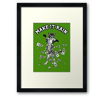 Dollar bills kitten - make it rain money cat Framed Print