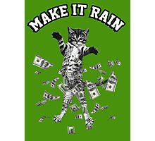 Dollar bills kitten - make it rain money cat Photographic Print