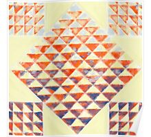 Sunset on the Beach Quilt Block Poster