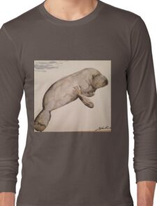 Manatee in motion Long Sleeve T-Shirt