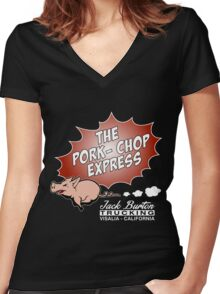 Jack Burton Trucking express Chop Women's Fitted V-Neck T-Shirt